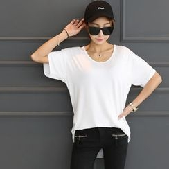DANI LOVE - Round-Neck Short-Sleeve T-Shirt