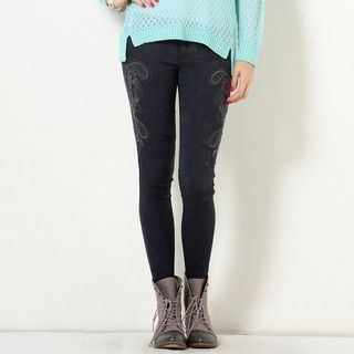 YesStyle Z - Embroidered Jeggings
