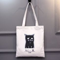 Aoba - Print Canvas Shoulder Bag