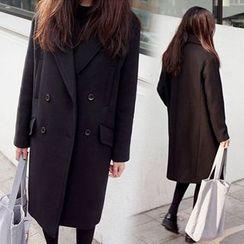 Elinor - Long Woolen Coat