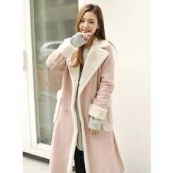 BBAEBBAE - Fleeced-Line Double-Breasted Coat