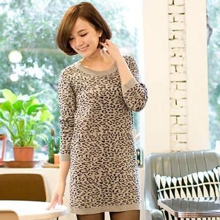 CatWorld - Leopard-Print Long Top