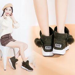 幸福鞋坊 - 扣踝带雪靴