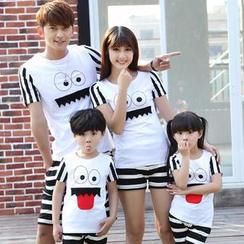 Igsoo - Family Short-Sleeve Cartoon Print T-Shirt