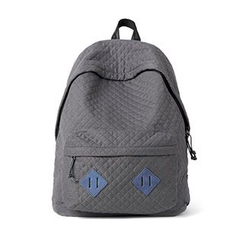 Mr.ace Homme - Applique Cotton Canvas Backpack