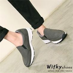 Wifky - Faux-Suede Slip-Ons