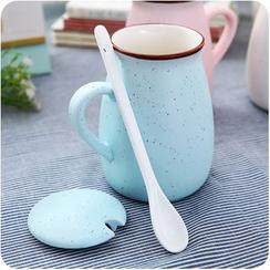 Homy Bazaar - 連蓋水杯配勺子