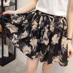 巧妮兒 - 雪紡百褶裙褲