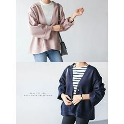 STYLEBYYAM - Drop-Shoulder Wide-Sleeve Jacket