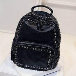 Youme - Studded Faux Leather Backpack