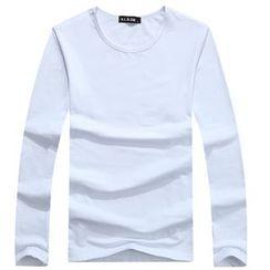 Champking - Long-Sleeve Plain T-Shirt