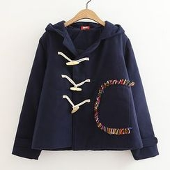 ninna nanna - Toggle Embroidered Coat