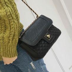 Youshine - Panel Chained Shoulder Bag