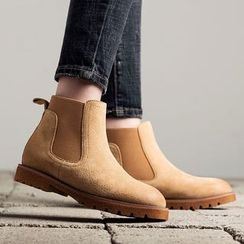 MIAOLV - Genuine Leather Chelsea Boots