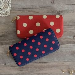 SUPER LOVER - Dotted Canvas Wallet