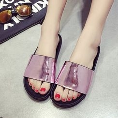Tania - Glitter Slide Sandals