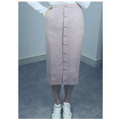 MATO - Button Up Midi Skirt