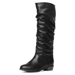 yeswalker - Faux Leather Knee-High Boots