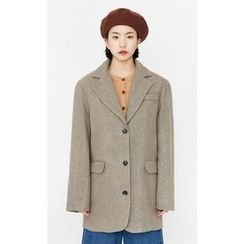 Someday, if - Single-Breasted Oversized Wool Blend Jacket