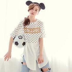 Tokyo Fashion - Inset Shirt Polka Dot Top