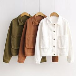 Nycto - Plain Buttoned Jacket