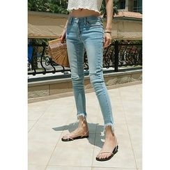 ATTYSTORY - Frayed-Hem Skinny Jeans