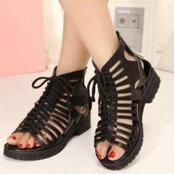 Mancienne - Lace-Up Strappy Sandals