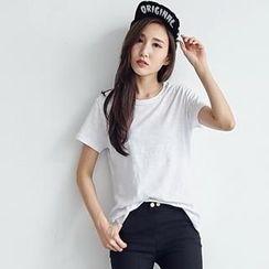 BAIMOMO - Short-Sleeve Round-Neck T-Shirt