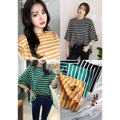 DEEPNY - Boxy-Fit Striped T-Shirt