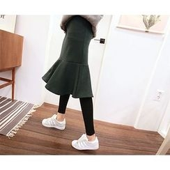 MARSHMALLOW - Maternity Inset Skirt Leggings