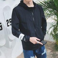 Besto - Lettering Hooded Jacket
