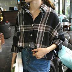 Dute - 格子宽松衬衫