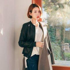 Seoul Fashion - Zip-Up Biker Jacket
