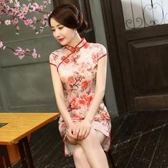 Janelle Qipao - 碎花长款旗袍