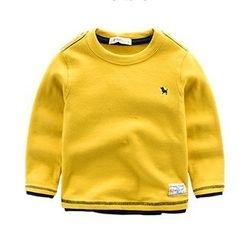 Kido - 儿童纯色套衫