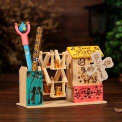 INTI - 木制摩天轮音乐盒连笔筒