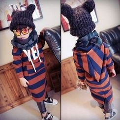 Spring Swallow - Kids Striped Hooded Midi Dress
