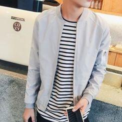 Bloemen - 配色饰缝线飞行夹克