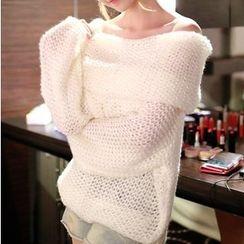 芙苪FR - 露肩粗織毛衣