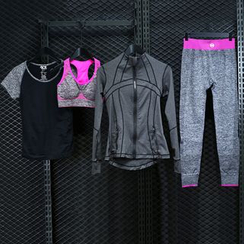 FAYE - Set: Sports Bra + Sports T-Shirt + Zip Jacket + Yoga Pants