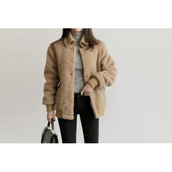 UPTOWNHOLIC - Pocket-Detail Boucle-Knit Jacket