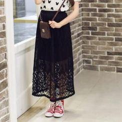 Porta - Lace Midi Skirt