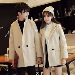 CASSY - Couple Matching Double Button Coat
