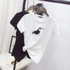 Polaris - 刺繡T恤