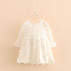 贝壳童装 - 儿童蕾丝连衣裙