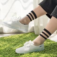 NANA Stockings - 条纹玻璃袜