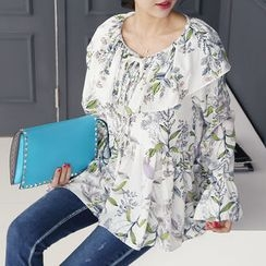 DANI LOVE - Ruffled Floral Print Top