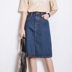 FancyMe - Denim Midi Skirt