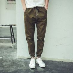 Mrlin - Cuffed Cotton Pants
