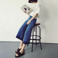 MATO - Capri Wide-leg Jeans